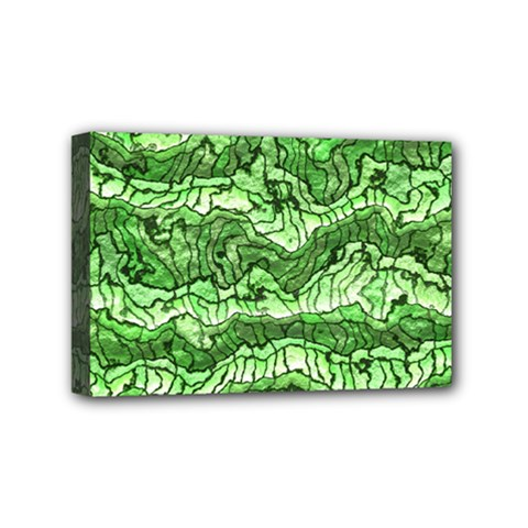 Alien Skin Green Mini Canvas 6  x 4  by ImpressiveMoments