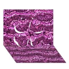 Alien Skin Hot Pink Clover 3d Greeting Card (7x5)