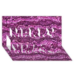 Alien Skin Hot Pink Merry Xmas 3d Greeting Card (8x4)  by ImpressiveMoments