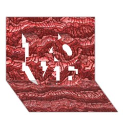 Alien Skin Red Love 3d Greeting Card (7x5)