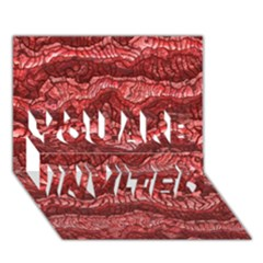 Alien Skin Red You Are Invited 3d Greeting Card (7x5)