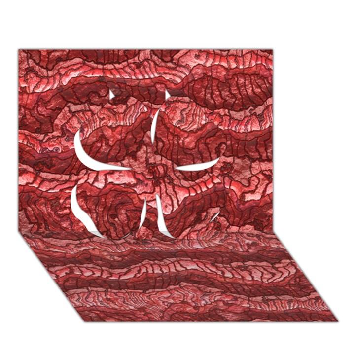 Alien Skin Red Clover 3D Greeting Card (7x5)