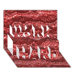 Alien Skin Red Work Hard 3d Greeting Card (7x5)