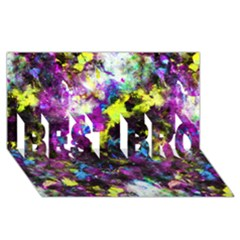 Colour Splash G264 Best Bro 3d Greeting Card (8x4)  by MedusArt