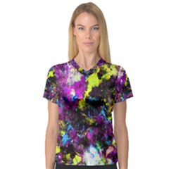 Colour Splash G264 Women s V Neck Sport Mesh Tee by MedusArt