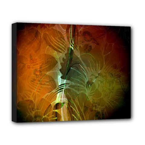 Beautiful Abstract Floral Design Deluxe Canvas 20  X 16   by FantasyWorld7