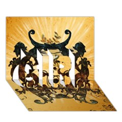 Clef With Awesome Figurative And Floral Elements Girl 3d Greeting Card (7x5)  by FantasyWorld7
