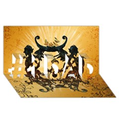 Clef With Awesome Figurative And Floral Elements #1 Dad 3d Greeting Card (8x4)