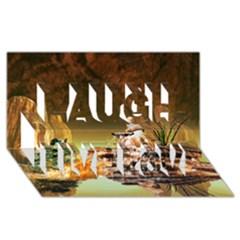 Wonderful Undergraund World Laugh Live Love 3d Greeting Card (8x4)