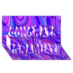 Retro Abstract Blue Pink Congrats Graduate 3d Greeting Card (8x4)