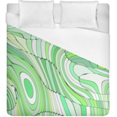 Retro Abstract Green Duvet Cover Single Side (KingSize) by ImpressiveMoments