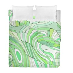 Retro Abstract Green Duvet Cover (twin Size) by ImpressiveMoments