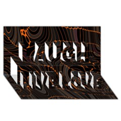Retro Abstract Orange Black Laugh Live Love 3d Greeting Card (8x4)