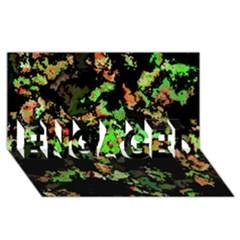 Splatter Red Green Engaged 3d Greeting Card (8x4)
