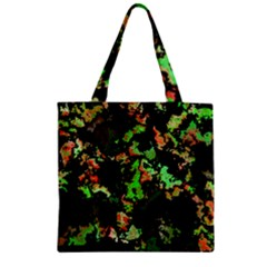 Splatter Red Green Zipper Grocery Tote Bags by MoreColorsinLife