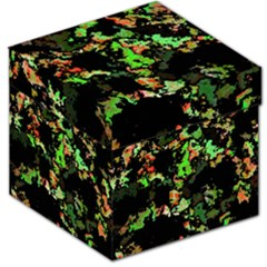 Splatter Red Green Storage Stool 12   by MoreColorsinLife