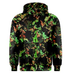 Splatter Red Green Men s Zipper Hoodies by MoreColorsinLife