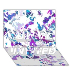 Splatter White Lilac You Are Invited 3d Greeting Card (7x5)  by MoreColorsinLife