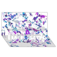 Splatter White Lilac Best Wish 3d Greeting Card (8x4)