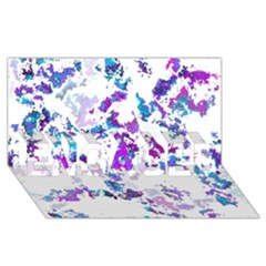 Splatter White Lilac Engaged 3d Greeting Card (8x4)  by MoreColorsinLife