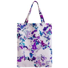 Splatter White Lilac Zipper Classic Tote Bags by MoreColorsinLife