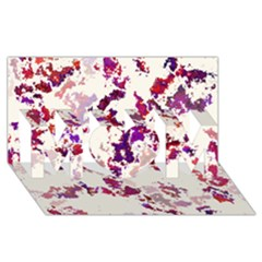 Splatter White Mom 3d Greeting Card (8x4)
