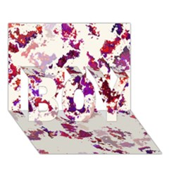 Splatter White Boy 3d Greeting Card (7x5)