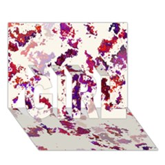 Splatter White Girl 3d Greeting Card (7x5)  by MoreColorsinLife