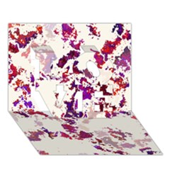 Splatter White Love 3d Greeting Card (7x5)  by MoreColorsinLife