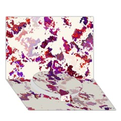 Splatter White Circle Bottom 3d Greeting Card (7x5)  by MoreColorsinLife