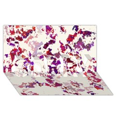Splatter White Sorry 3d Greeting Card (8x4)