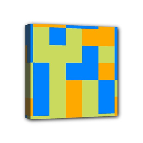 Tetris Shapes Mini Canvas 4  X 4  (stretched) by LalyLauraFLM