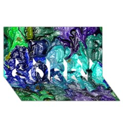 Strange Abstract 1 Sorry 3d Greeting Card (8x4)