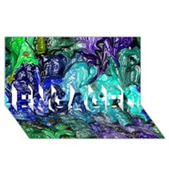 Strange Abstract 1 Engaged 3d Greeting Card (8x4)