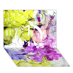 Strange Abstract 2 Soft Peace Sign 3d Greeting Card (7x5)