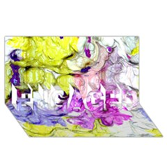 Strange Abstract 2 Soft Engaged 3d Greeting Card (8x4)
