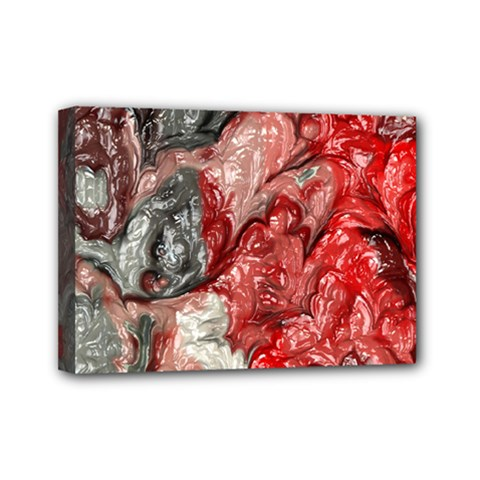 Strange Abstract 3 Mini Canvas 7  x 5  by MoreColorsinLife