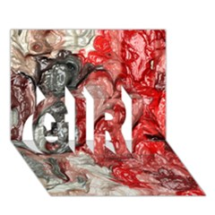 Strange Abstract 3 Girl 3d Greeting Card (7x5)