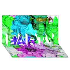 Strange Abstract 4 Party 3d Greeting Card (8x4)