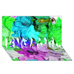 Strange Abstract 4 Engaged 3d Greeting Card (8x4)