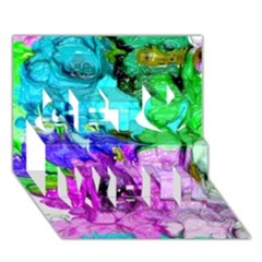 Strange Abstract 4 Get Well 3d Greeting Card (7x5)  by MoreColorsinLife