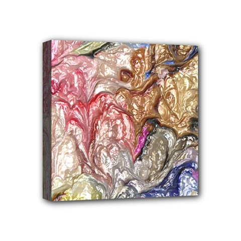 Strange Abstract 6 Mini Canvas 4  X 4  by MoreColorsinLife