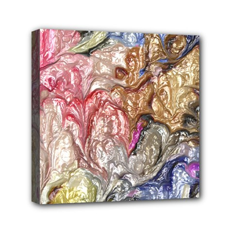 Strange Abstract 6 Mini Canvas 6  x 6  by MoreColorsinLife