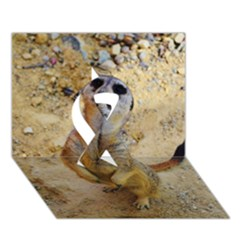 Lovely Meerkat 515p Ribbon 3d Greeting Card (7x5)