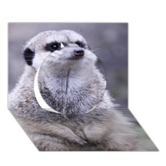 Adorable Meerkat 03 Circle 3d Greeting Card (7x5)