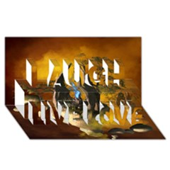 The Forgotten World In The Sky Laugh Live Love 3d Greeting Card (8x4)  by FantasyWorld7