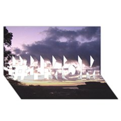 Sunset Over The Valley #1 Mom 3d Greeting Cards (8x4)