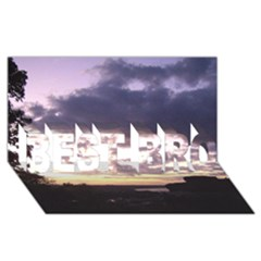 Sunset Over The Valley Best Bro 3d Greeting Card (8x4)