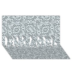 Bridal Lace Engaged 3d Greeting Card (8x4)