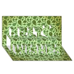 Vintage Paisley Green Best Wish 3d Greeting Card (8x4)  by MoreColorsinLife